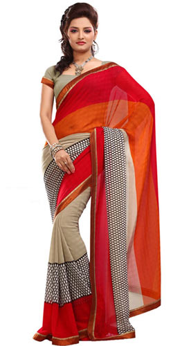 Stunning Faux Georgette Saree