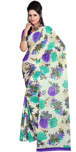 Pretty Faux Georgette Printed Saree