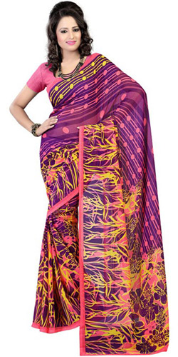 Frilly Zeal Georgette Saree