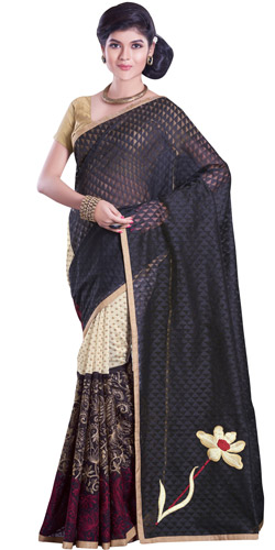 Ethnic Fascination Net Chanderi Saree