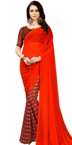 Classic Marble Chiffon Saree Designed in Multi-color