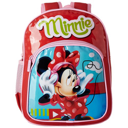 Classy Choice of Red Color Backpack with Minnie Design