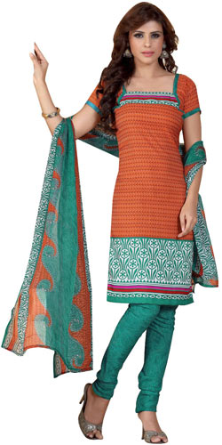 Beautiful Chiffon N Crepe Printed Salwar Suit from Siya Selection