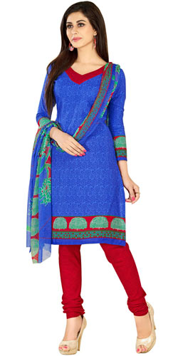 Gorgeous Cotton and Chiffon Fabric Printed Salwar Suit from Welcome Brand