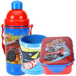 Pretty Off to School Hot Wheels Design Tiffin Set