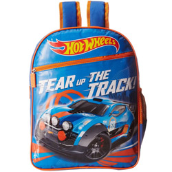Lovely Hot Wheels School Bag in Blue n Orange Color