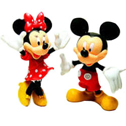 Pretty Arrangement of Mickey Mouse N Minnie Mouse Action Figures