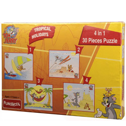 Blithesome Funskool Tom and Jerry 4 in 1 Puzzle