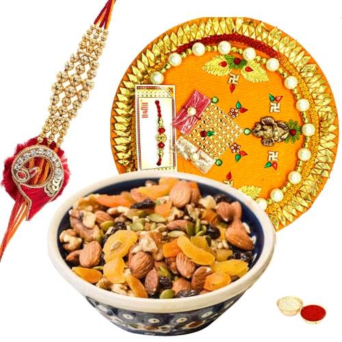 Eye-Pleasing Rakhi Thali Assortment