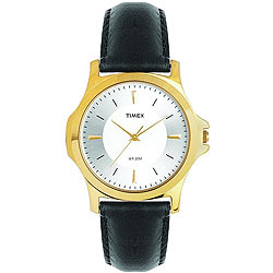 Marvelous Golden Coloured Round Dialed Gents Watch Manufactured by Timex