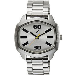 Impressive Men's Watch from Fastrack in Silver Dial<br>