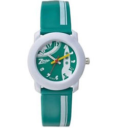 Smart Looking White and Green Kids Watch from the House of Titan Zoop